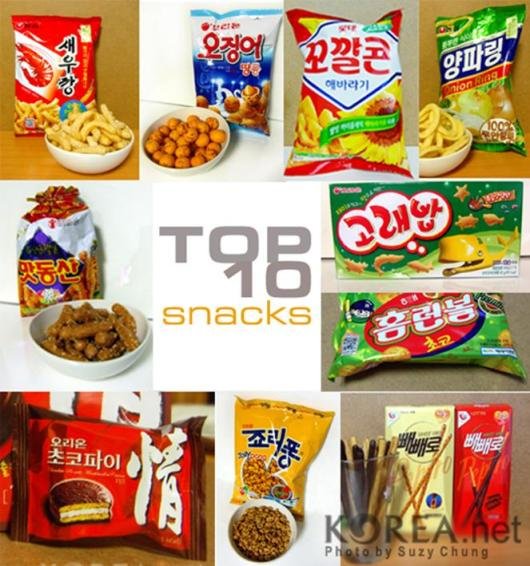 10 Top Korean Snacks
